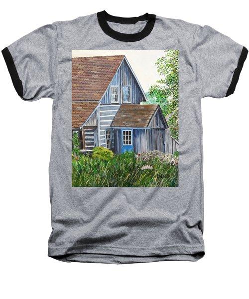 Blue Door Baseball T-Shirt by Marilyn  McNish