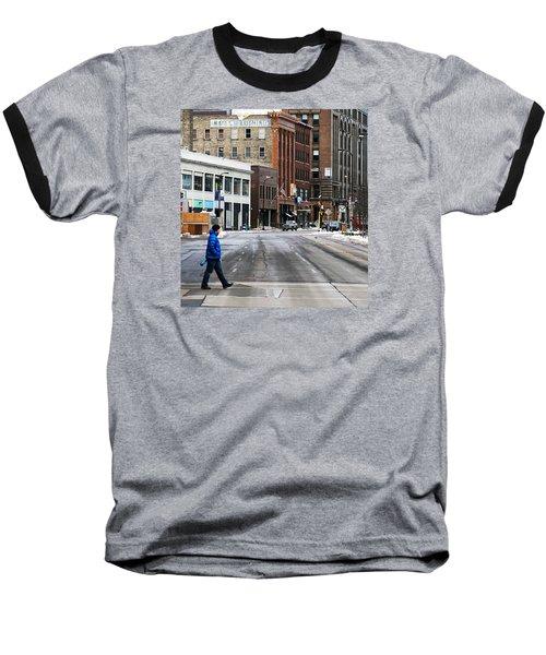 Blue Down Jacket Baseball T-Shirt