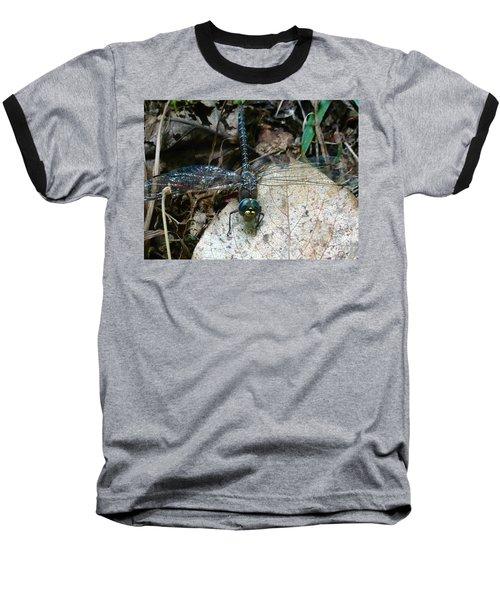 Blue Dragonfly  Baseball T-Shirt