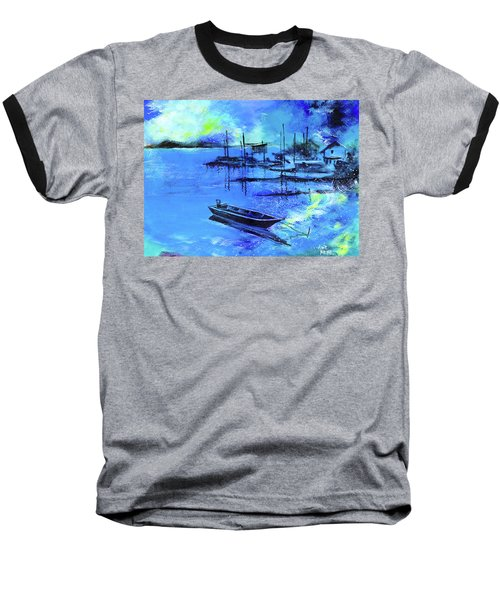 Baseball T-Shirt featuring the painting Blue Dream 2 by Anil Nene