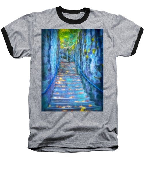 Blue Dream Stairway Baseball T-Shirt