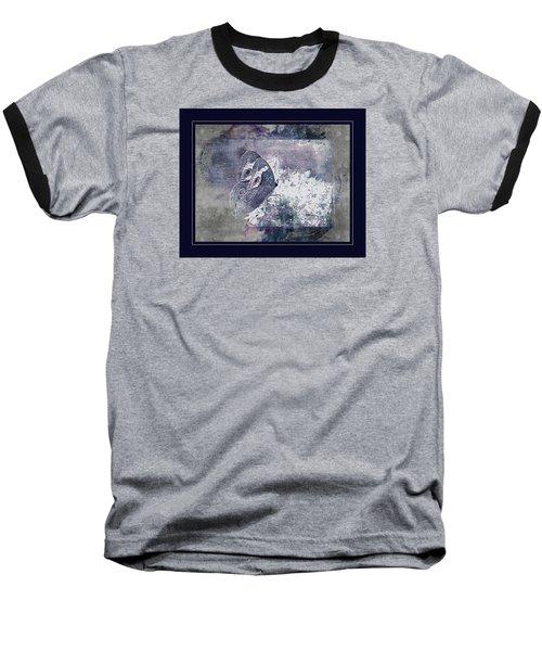 Blue Dreams And Butterflies Baseball T-Shirt