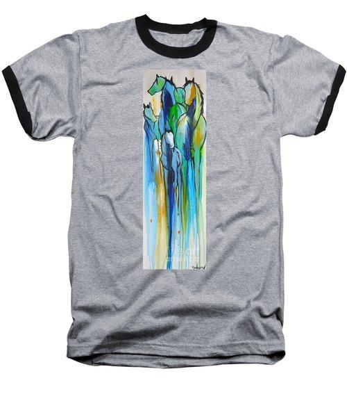Blue Drip 2 Baseball T-Shirt by Cher Devereaux