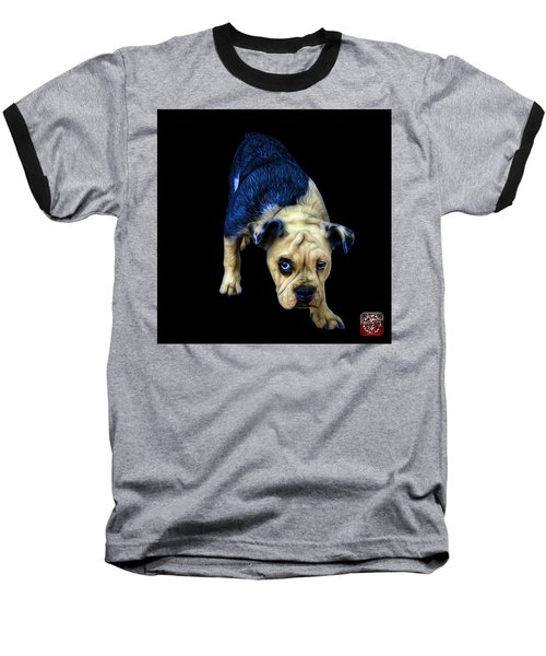 Blue English Bulldog Dog Art - 1368 - Bb Baseball T-Shirt
