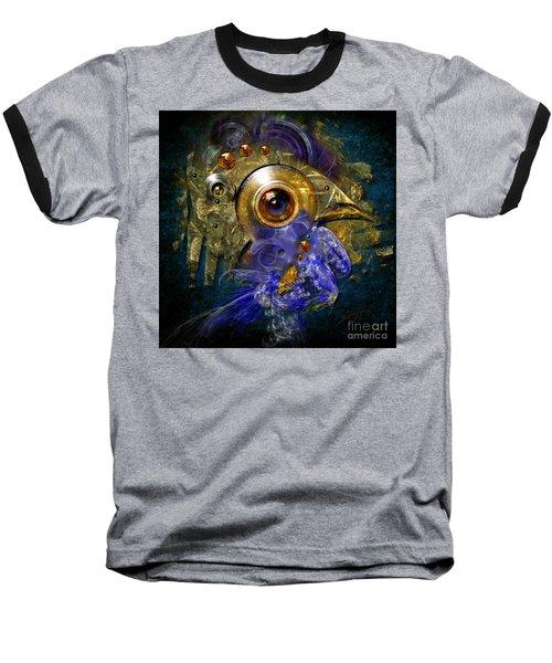 Blue Eyed Bird Baseball T-Shirt