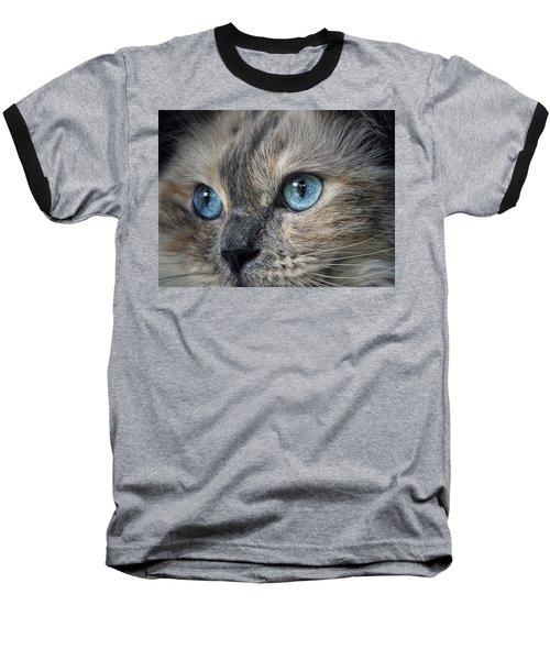 Blue Eyed Girl Baseball T-Shirt by Karen Stahlros