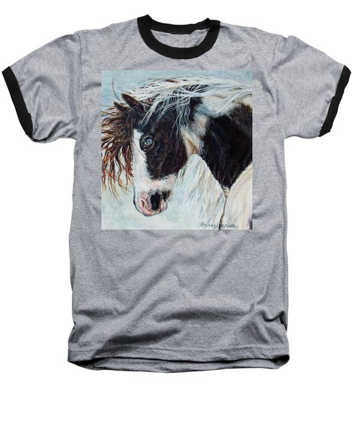 Blue Eyed Storm Baseball T-Shirt