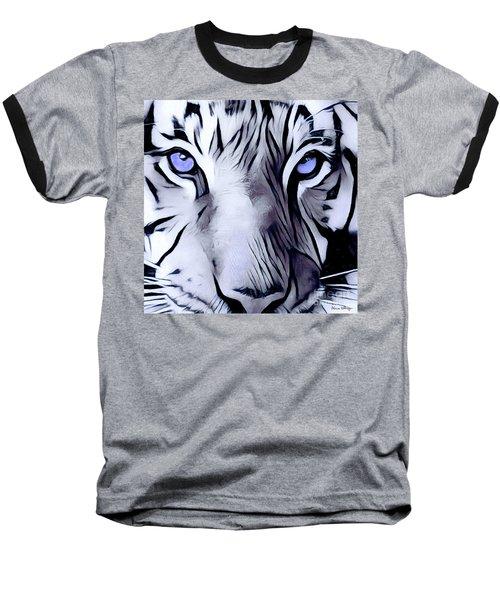 Blue Eyed Tiger Baseball T-Shirt