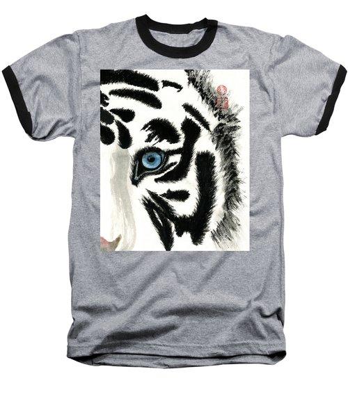 Blue-eyed Tiger Baseball T-Shirt