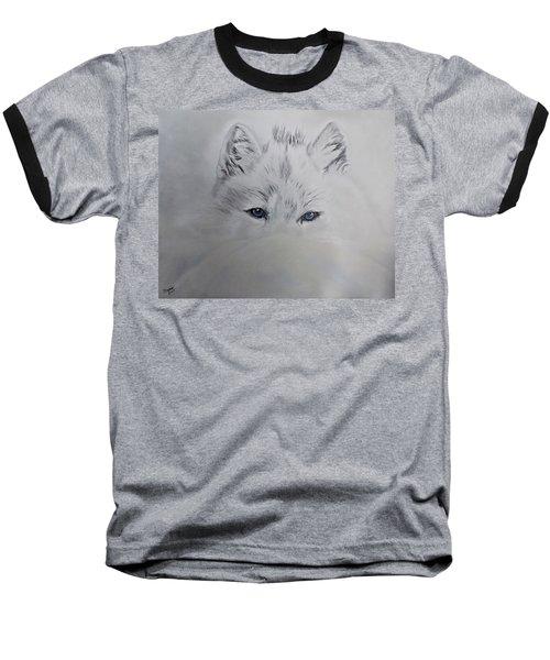Blue Eyes Baseball T-Shirt by Maris Sherwood