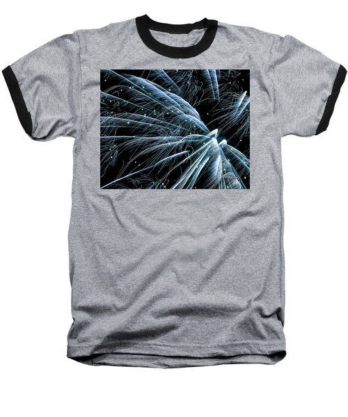 Blue Fairy Fireworks #0710_3 Baseball T-Shirt