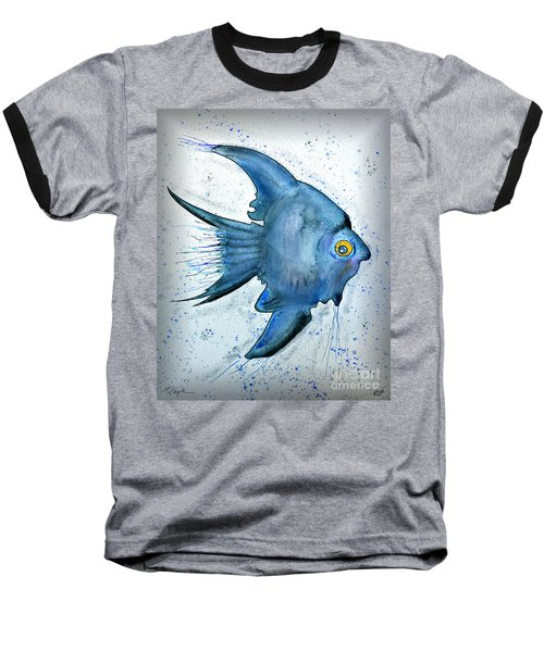 Baseball T-Shirt featuring the photograph Blue Fish by Walt Foegelle
