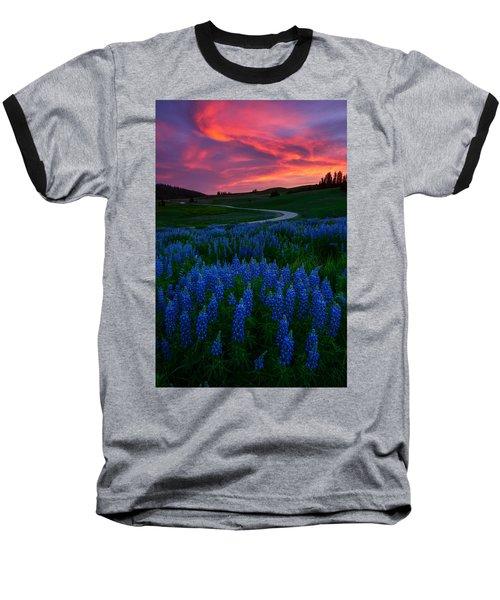 Blue Flame Baseball T-Shirt