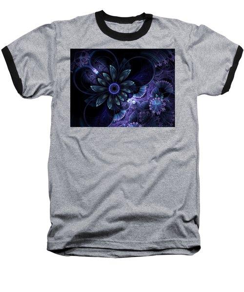 Blue Fleur And Lace Baseball T-Shirt