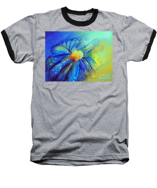 Blue Flower Offering Baseball T-Shirt by Allison Ashton