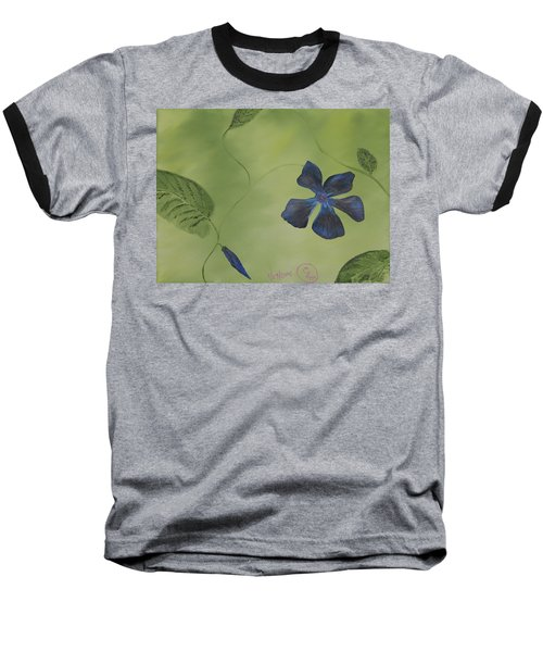 Blue Flower On A Vine Baseball T-Shirt