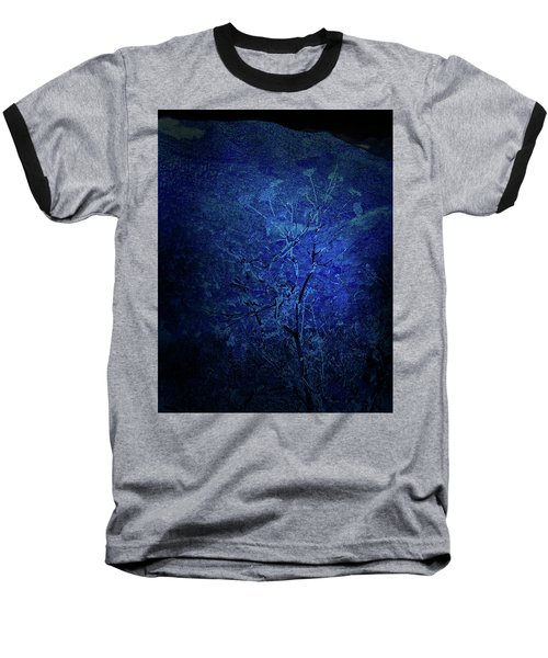 Blue Flowers Baseball T-Shirt