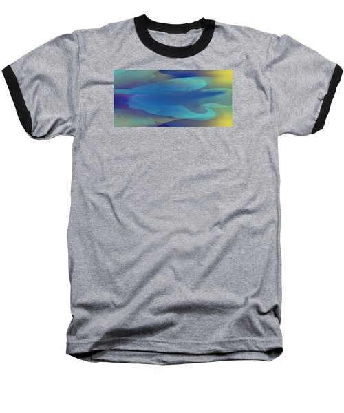 Blue Fog I Baseball T-Shirt by David Klaboe