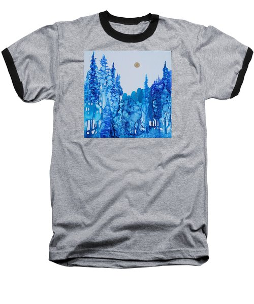 Blue Forest Baseball T-Shirt by Suzanne Canner