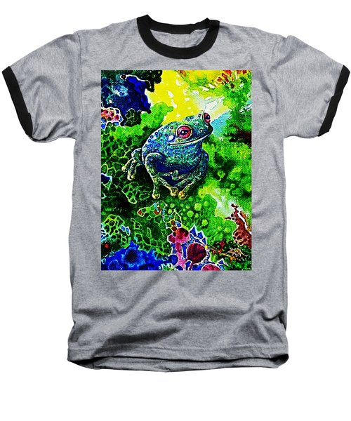 Blue  Frog Baseball T-Shirt