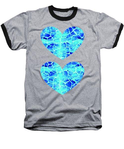 Blue Giraffe Print Baseball T-Shirt