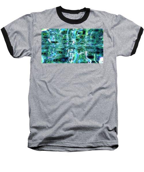 Blue Green Abstract 091015 Baseball T-Shirt