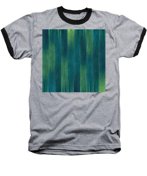 Blue Green Abstract 1 Baseball T-Shirt by Terri Harper