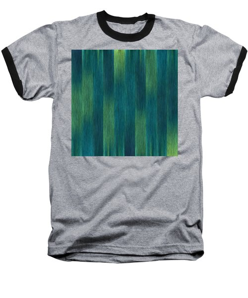 Blue Green Abstract 1 Baseball T-Shirt