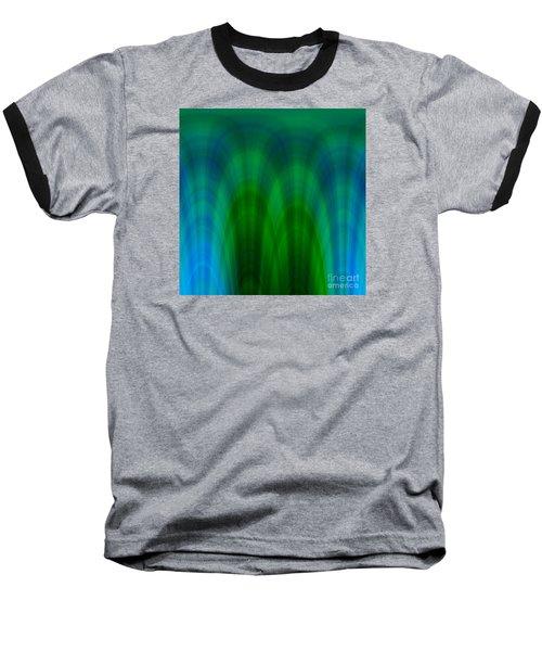 Blue Green Plaid Arches Baseball T-Shirt