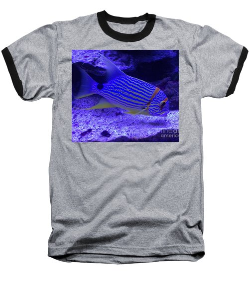 Baseball T-Shirt featuring the photograph Blue Fish Groupie by Richard W Linford