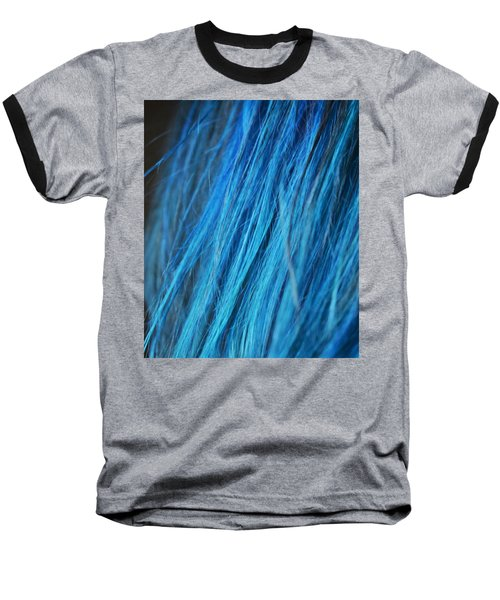 Blue Hair Baseball T-Shirt