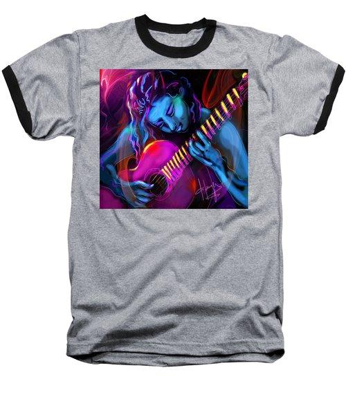 Blue Heart Baseball T-Shirt by DC Langer