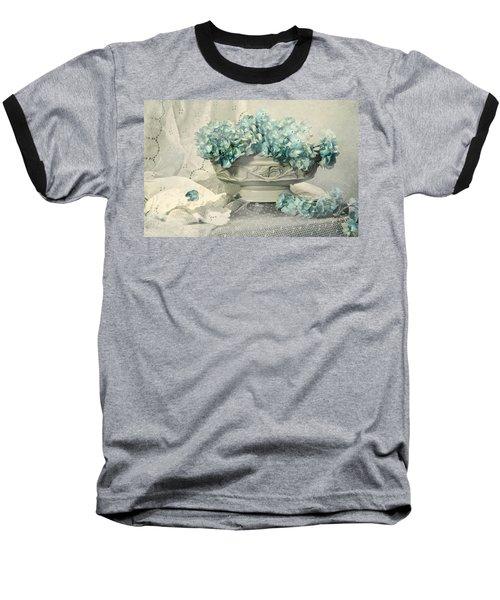 Blue Heart Baseball T-Shirt by Diana Angstadt