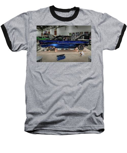 Blue Heaven Baseball T-Shirt by Randy Scherkenbach