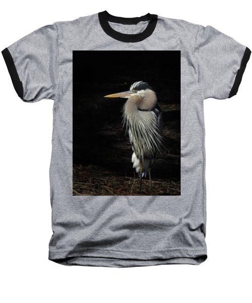 Blue Heron Gaze Baseball T-Shirt
