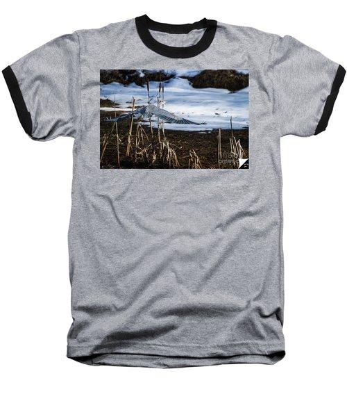 Baseball T-Shirt featuring the photograph Blue Heron by Jim  Hatch