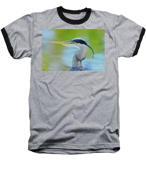 Baseball T-Shirt featuring the photograph Blue Heron Portrait 2017 by Deborah Benoit