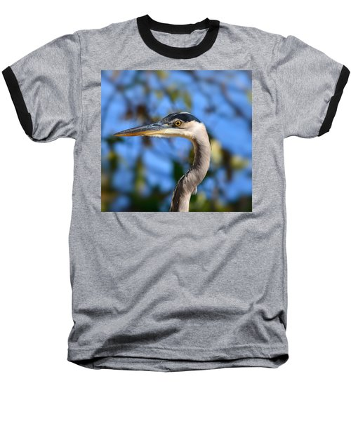 Blue Heron Profile Baseball T-Shirt