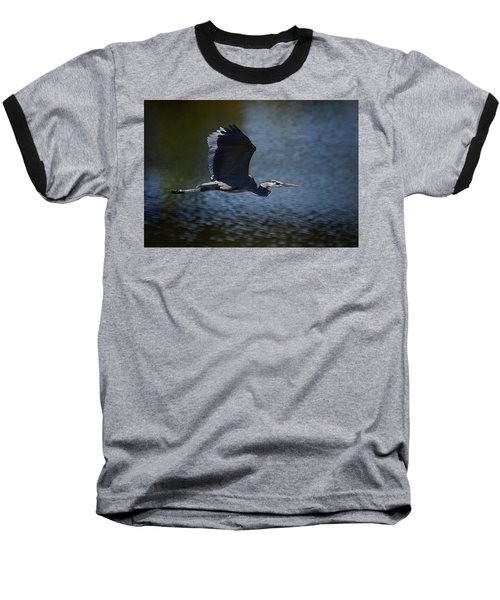 Blue Heron Skies  Baseball T-Shirt