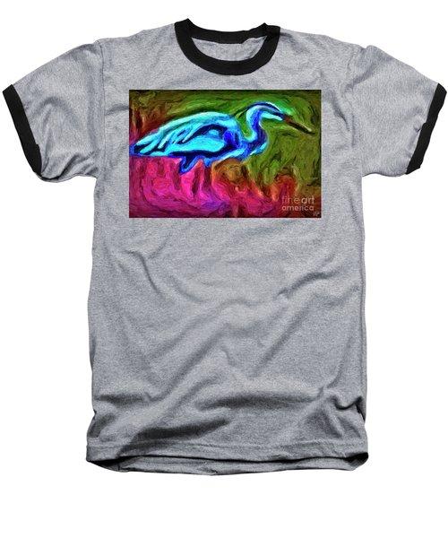 Baseball T-Shirt featuring the photograph Blue Heron by Walt Foegelle