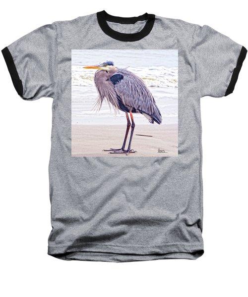 Blue Heron Watching Baseball T-Shirt