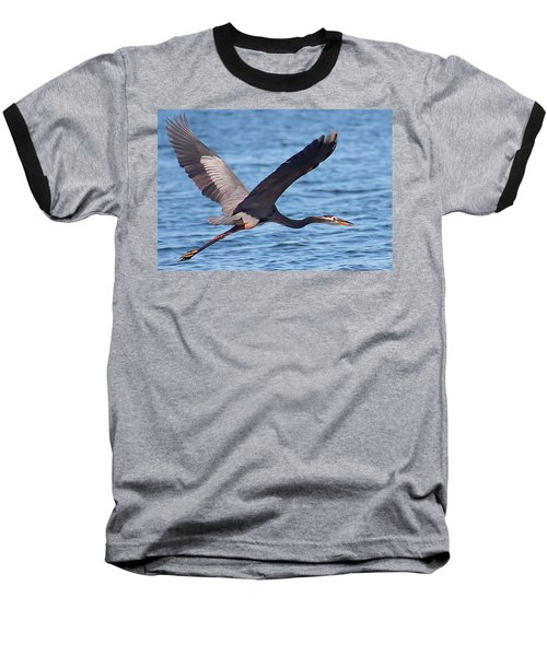 Blue Heron Wingspan Baseball T-Shirt