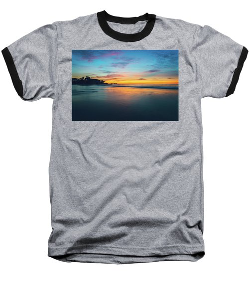 Blue Hour At Carmel, Ca Beach Baseball T-Shirt