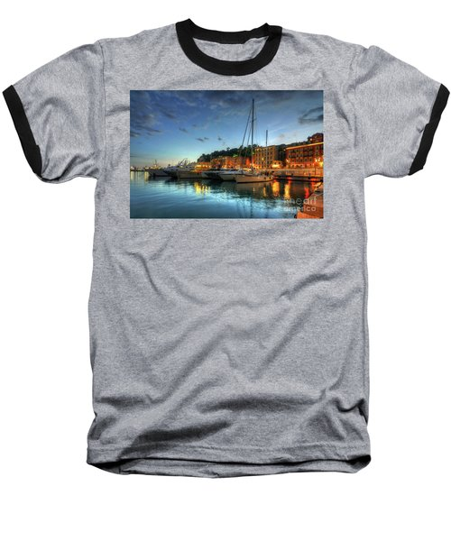 Baseball T-Shirt featuring the photograph Blue Hour At Port Nice 2.0 by Yhun Suarez