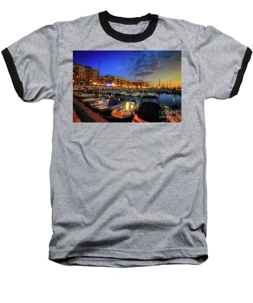 Baseball T-Shirt featuring the photograph Blue Hour At Port Nice 1.0 by Yhun Suarez