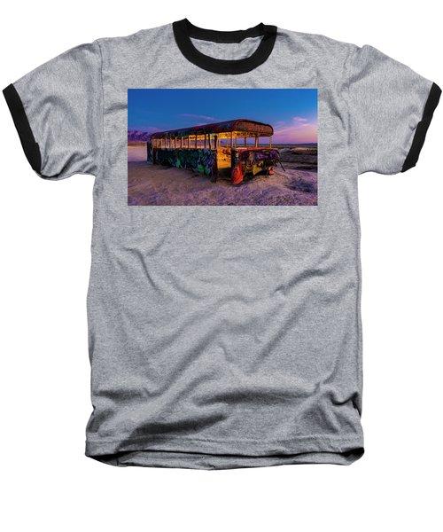 Blue Hour Bus Baseball T-Shirt