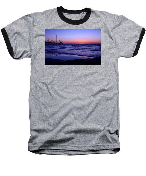 Blue Hour In Galveston Baseball T-Shirt