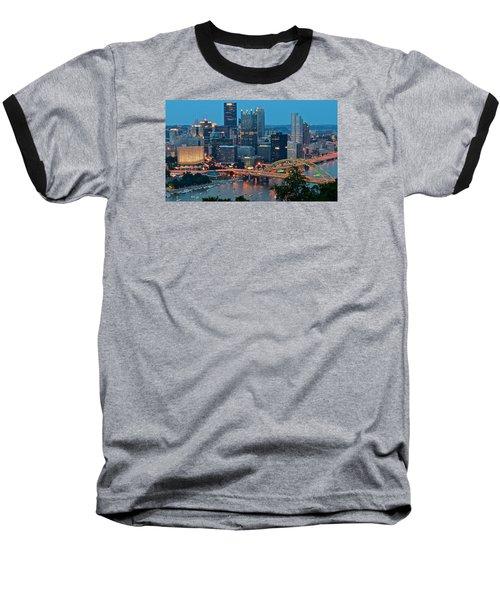 Blue Hour In Pittsburgh Baseball T-Shirt