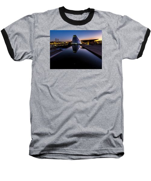 Blue Hour Reflections On Glass Baseball T-Shirt