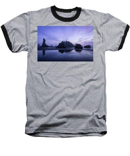 Blue Hour Reflections Baseball T-Shirt
